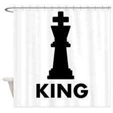 Chess King Shower Curtain
