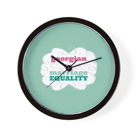 Georgian for Equality Wall Clock