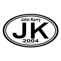 John Kerry 2004 Auto Oval Decal
