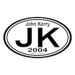 John Kerry 2004 Auto Oval Sticker