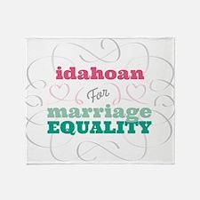 Idahoan for Equality Throw Blanket