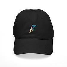Brunette Mermaid Tattoo Baseball Hat