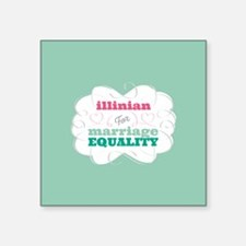 Illinian for Equality Sticker