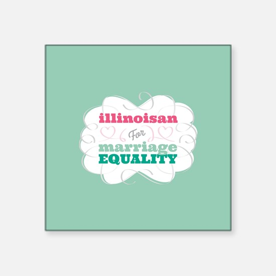 Illinoisan for Equality Sticker