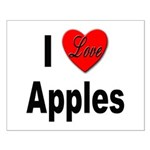 I Love Apples Small Poster