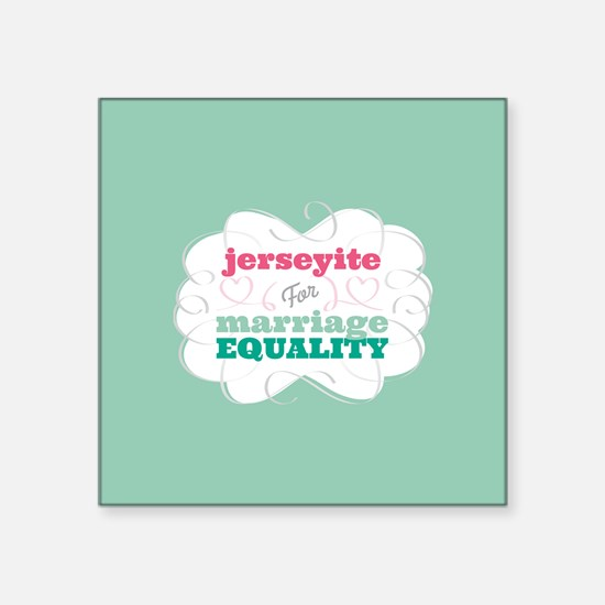Jerseyite for Equality Sticker