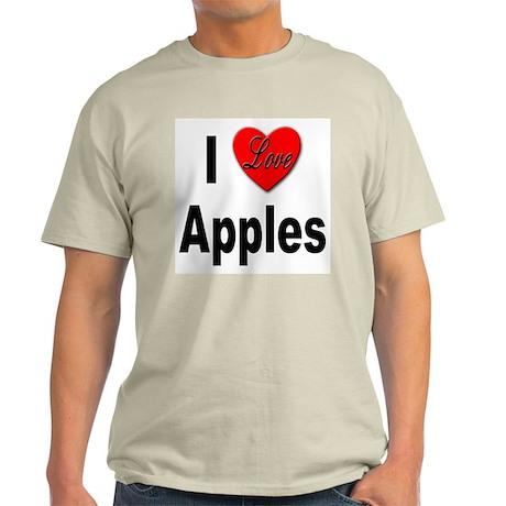 I Love Apples Ash Grey T-Shirt