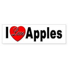 I Love Apples Bumper Bumper Sticker