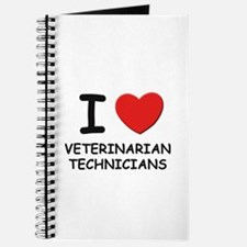 I Love veterinarian technicians Journal