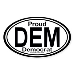 DEM Democrat Auto Oval Decal