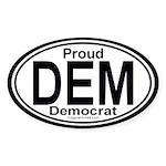DEM Democrat Auto Oval Sticker