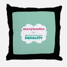 Marylander for Equality Throw Pillow