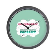 Marylander for Equality Wall Clock