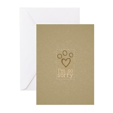 Pet Loss Sympathy Neutral Greeting Cards (Pk of 10