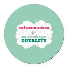 Minnesotan for Equality Round Car Magnet