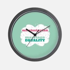 Mississippian for Equality Wall Clock