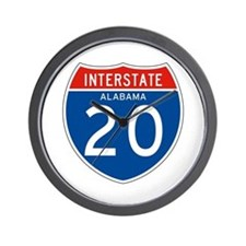 Interstate 20 - AL Wall Clock