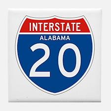 Interstate 20 - AL Tile Coaster