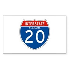 Interstate 20 - AL Rectangle Decal