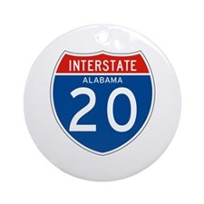 Interstate 20 - AL Ornament (Round)