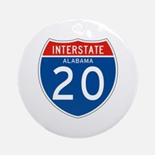 Interstate 20 - AL Ornament (Round)