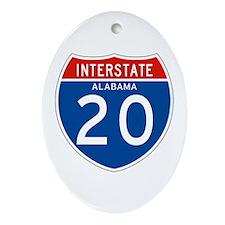 Interstate 20 - AL Oval Ornament