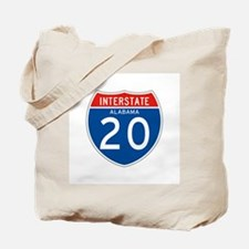 Interstate 20 - AL Tote Bag