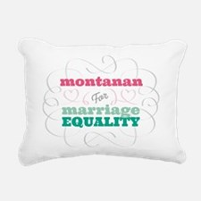 Montanan for Equality Rectangular Canvas Pillow
