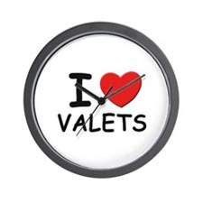 I Love valets Wall Clock