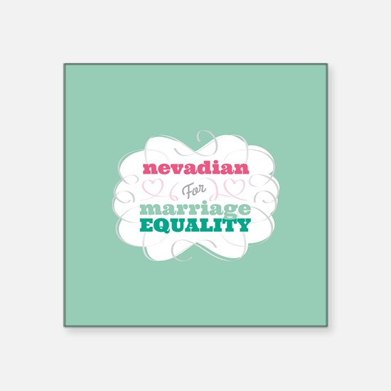 Nevadian for Equality Sticker