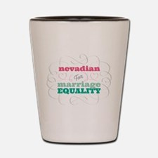 Nevadian for Equality Shot Glass