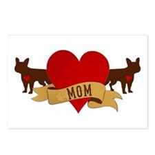 French Bulldog Mom Postcards (Package of 8)