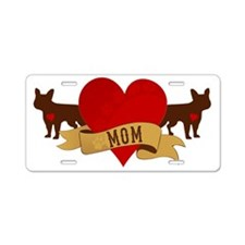 French Bulldog Mom Aluminum License Plate