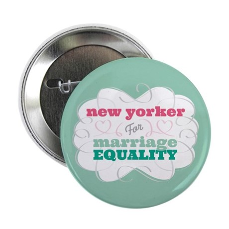 """New Yorker for Equality 2.25"""" Button"""