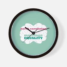 North Carolinian for Equality Wall Clock