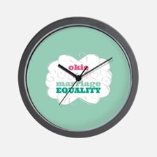 Okie for Equality Wall Clock