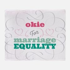Okie for Equality Throw Blanket