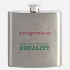 Oregonian for Equality Flask