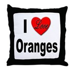 I Love Oranges Throw Pillow