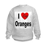 I Love Oranges (Front) Kids Sweatshirt