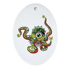 Alien Octopus Tattoo Ornament (Oval)