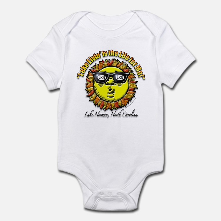 """Lake Norman Living"" Infant Bodysuit"