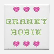 Granny Robin Tile Coaster