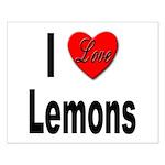 I Love Lemons Small Poster