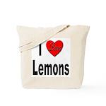 I Love Lemons Tote Bag