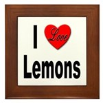 I Love Lemons Framed Tile