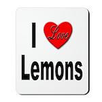 I Love Lemons Mousepad