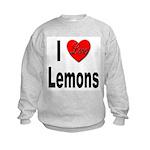 I Love Lemons (Front) Kids Sweatshirt