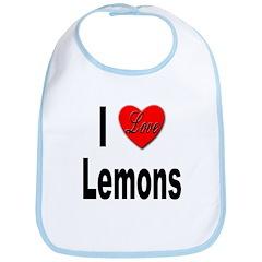 I Love Lemons Bib
