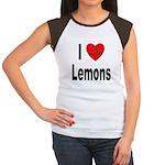 I Love Lemons (Front) Women's Cap Sleeve T-Shirt